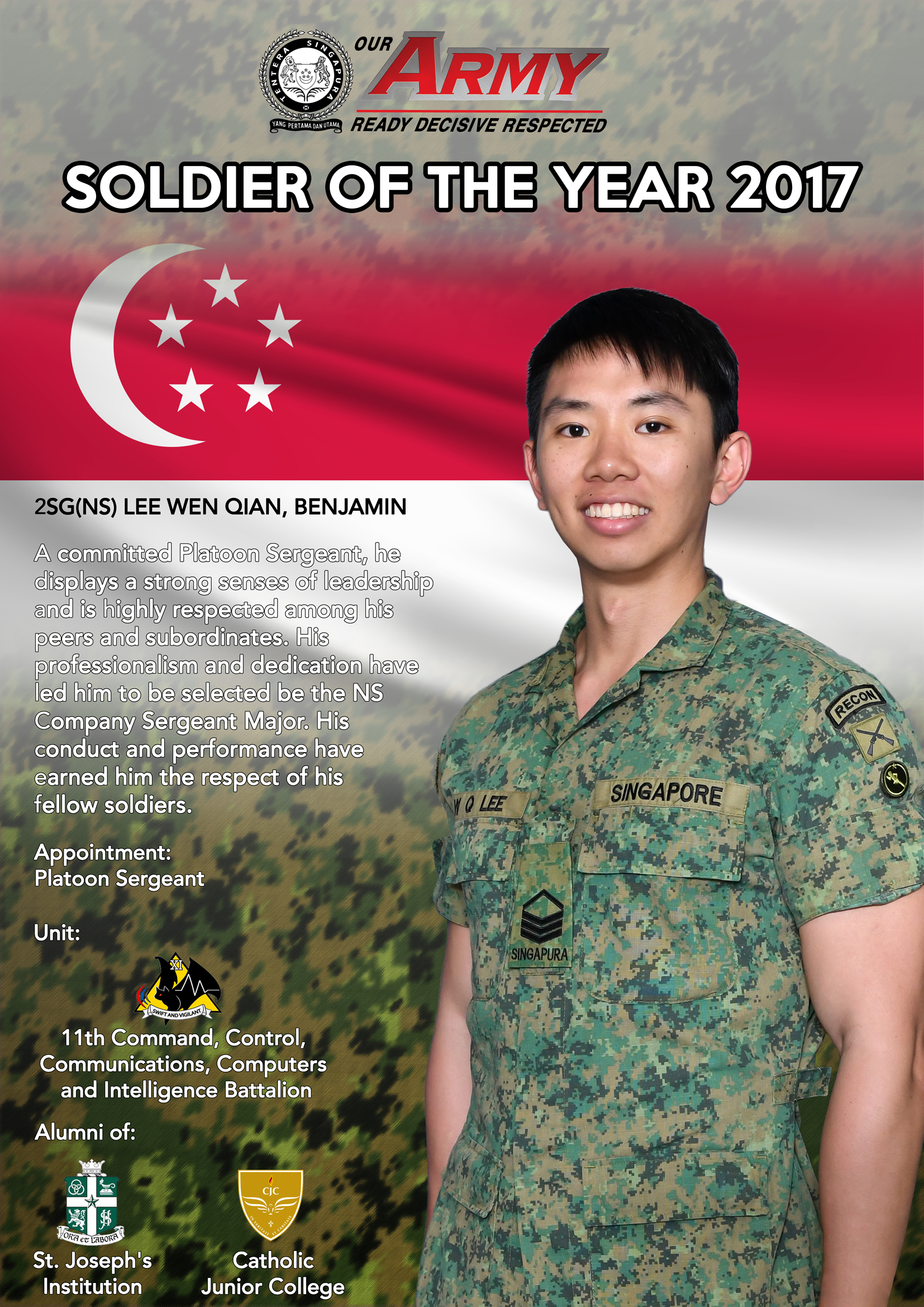 e0a5afdb8f3 July  Josephians Named Soldiers of the Year