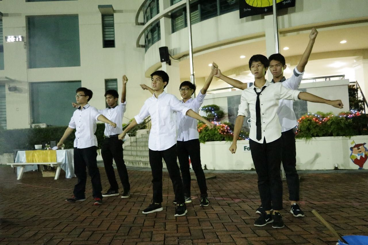 SMSS CF-Our Sec 4 Scouts performing their dance.jpg